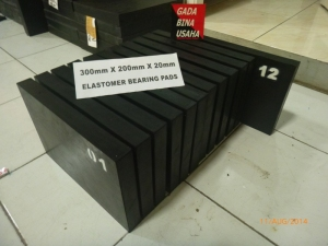 Elastomer Bearing Pad 300 X 200 X 20 mm